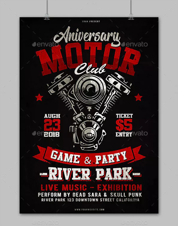 Motorcycle Anniversary Flyer Design