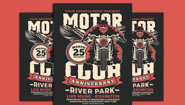21+ Motorcycle Flyers