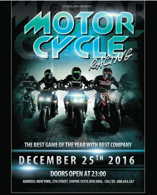 Motorcycle Racing Sports Flyer Free Download