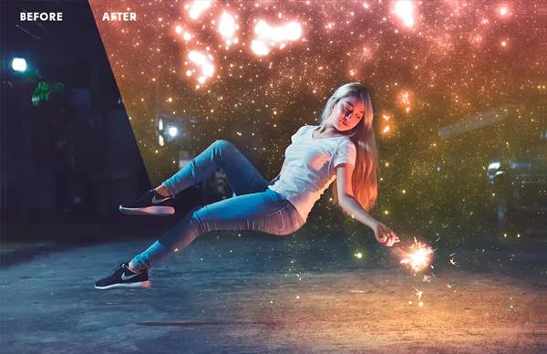 Night Sky Starry Overlays & Actions