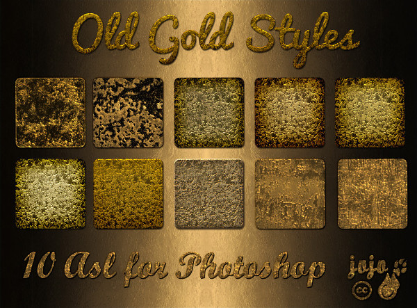 Old Gold Styles for Photoshop