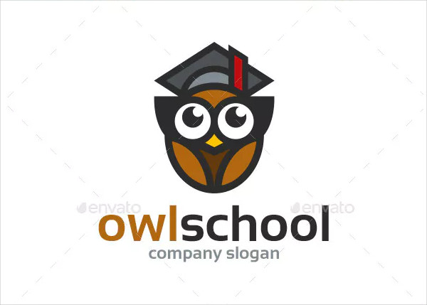 Owl School Logo Template