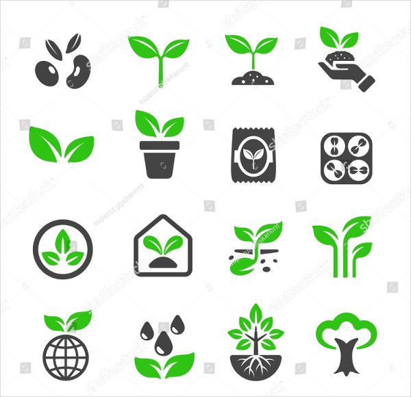 Plant Icon Pack Vector