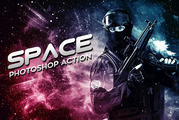 Popular Space Photoshop Actions