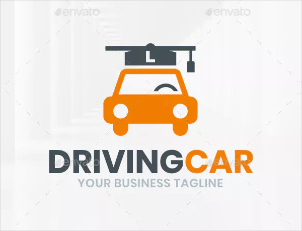 Professional Driving School Logo Template