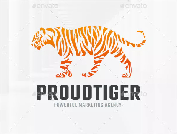 Proud Tiger Logo Template