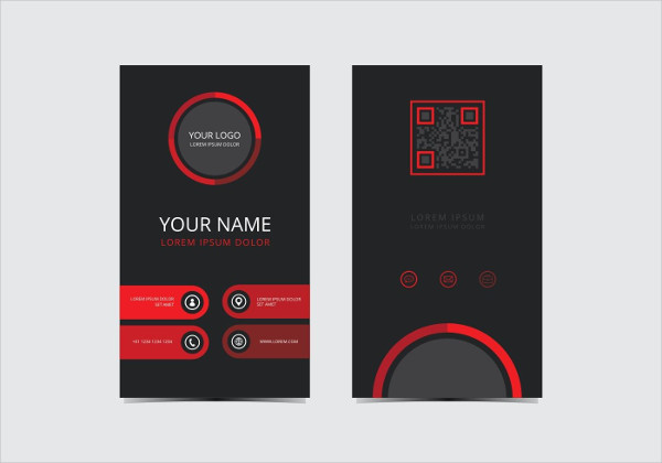 Red Stylish Business Card Template Free Download