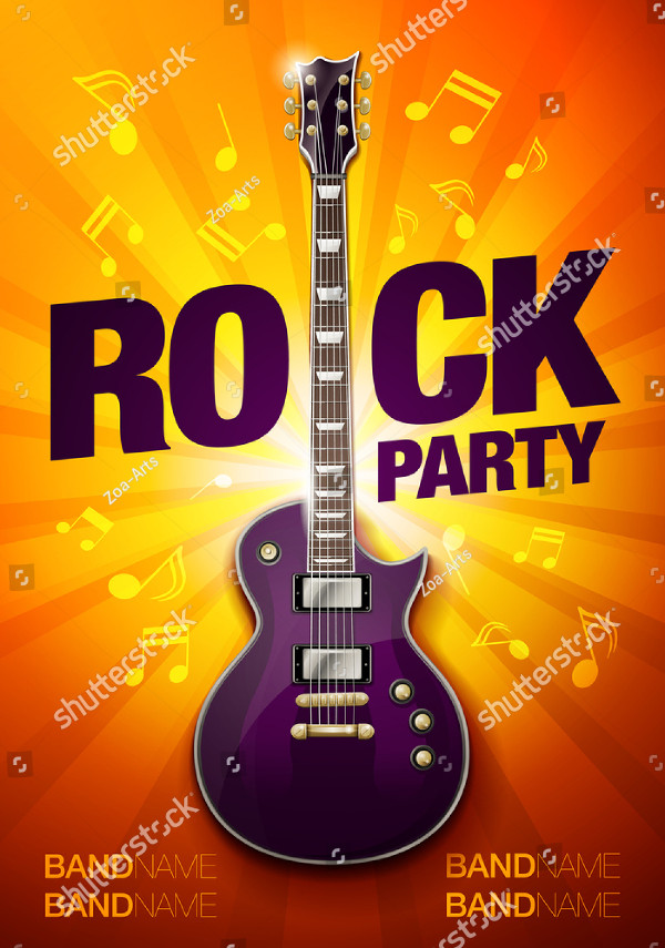 Rock Party Flyer Design Template