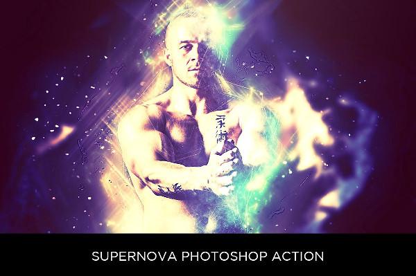 Supernova Photoshop Action
