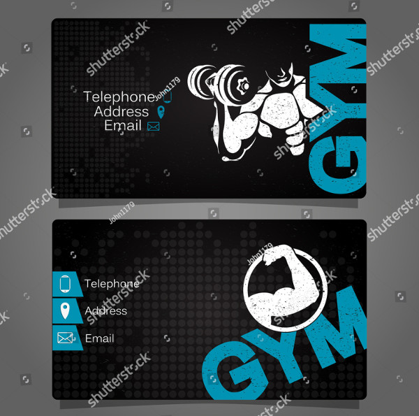 Unique Fitness Business Card Template