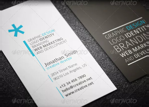 Unique Marketing Business Card Template