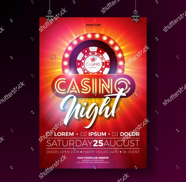 Vector Casino Night Flyer Illustration