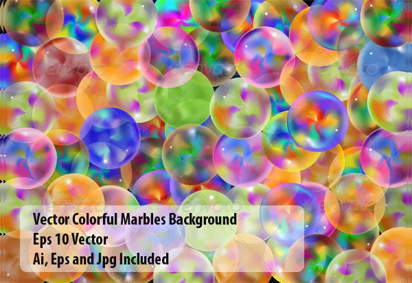 Vector Colorful Marbles Background