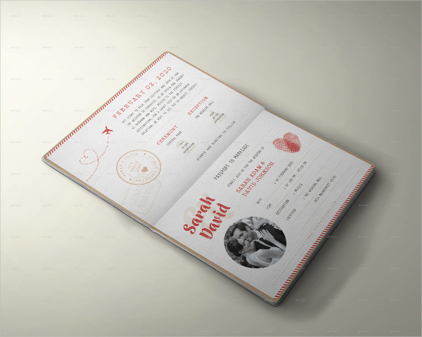 Vintage Passport Wedding Invitation Design