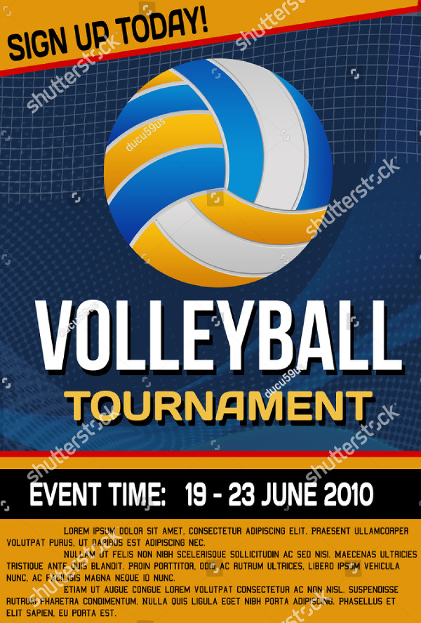 Volleyball Tournament Poster or Flyer