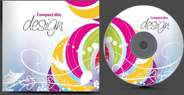 Abstract CD Cover Vector Set Free
