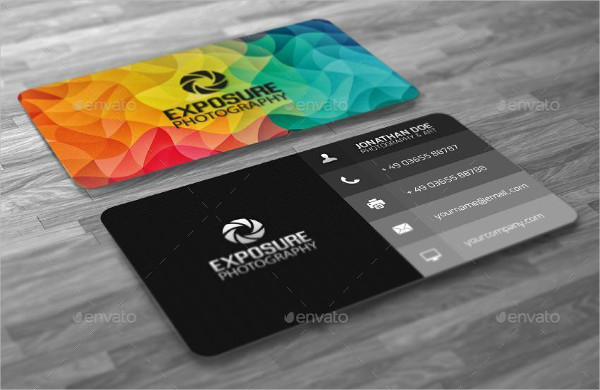 Abstract Cubism Polygon Business Card