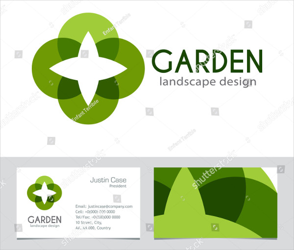 Abstract Gardener Business Card