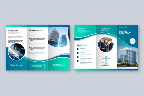 Abstract Trifold Brochure Template Free