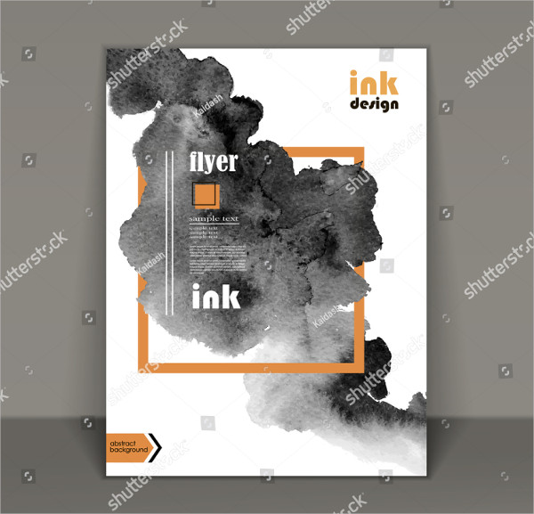 Abstract Watercolor Style Brochure Design