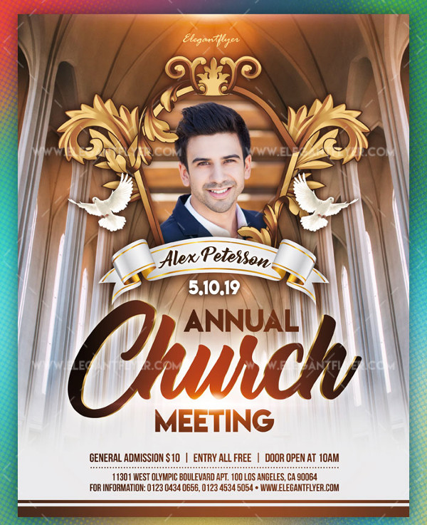 Annual Church Meeting Free PSD Flyer Template