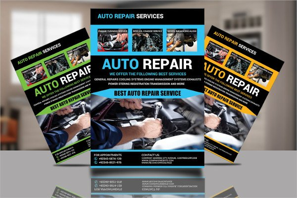 Auto Repair Flyer Design