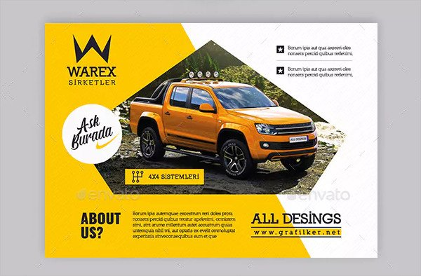 Automobile Introduction Flyer Templates