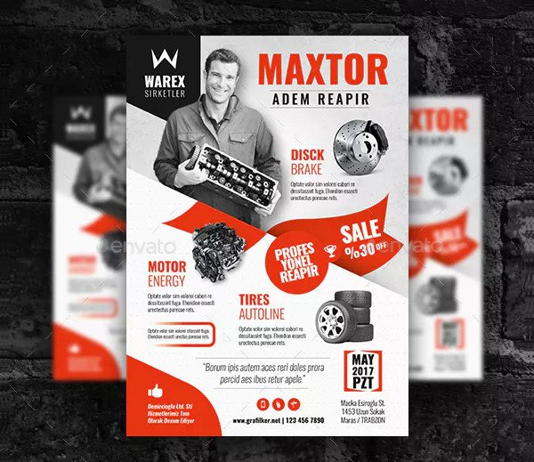 Automobile Part Flyer Templates
