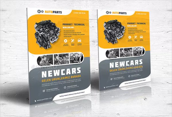 Automobile Service Flyer Templates