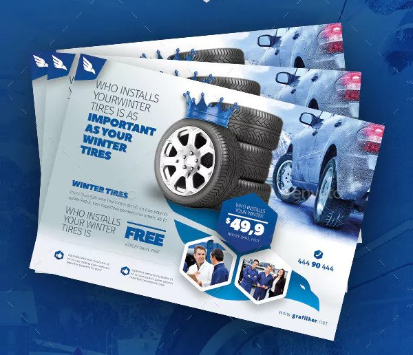Automobile Tire Flyer Templates
