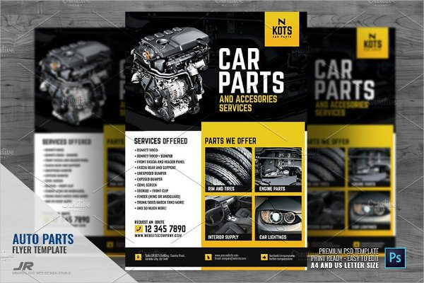 Automotive Car Parts Flyer