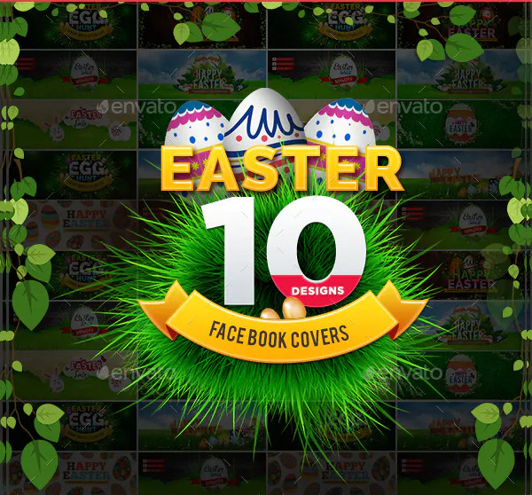 Awesome Easter Facebook Covers Design