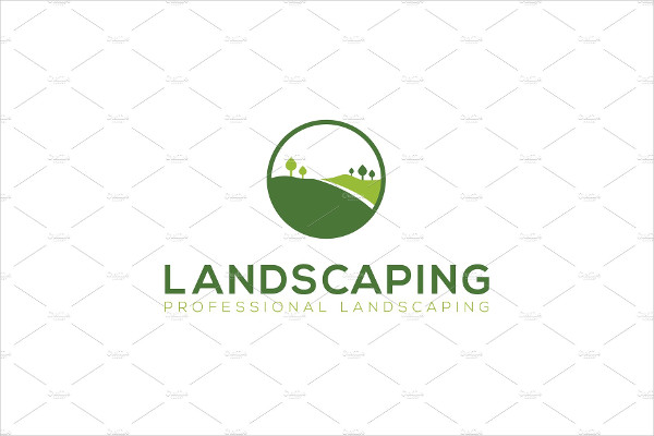 Beautiful Landscaping Logo Template