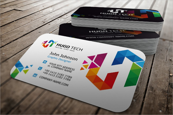 Best Polygon Business Card Design