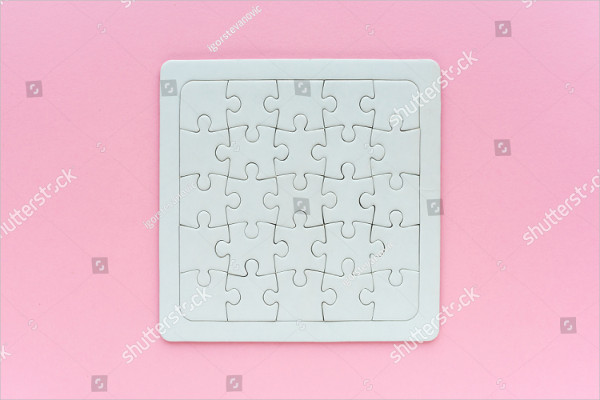 Blank Puzzle Mock-Up Design