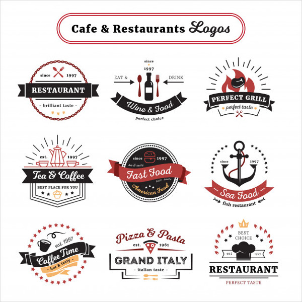 Cafe and Restaurant Logos Free Download