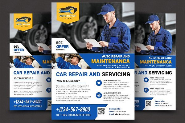 Car Repair Service Flyer