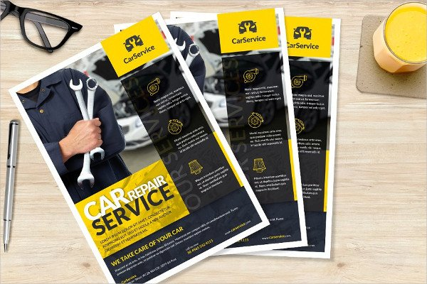 Car mechanic A4 Flyer Template