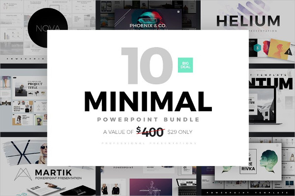 Clean & Minimal PowerPoint Templates Bundle
