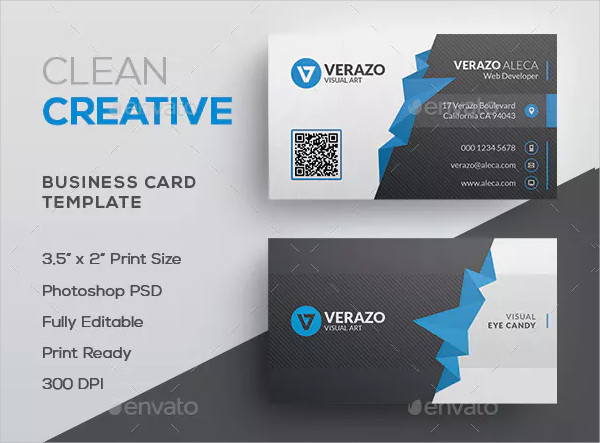 Clean Polygon Business Card Template