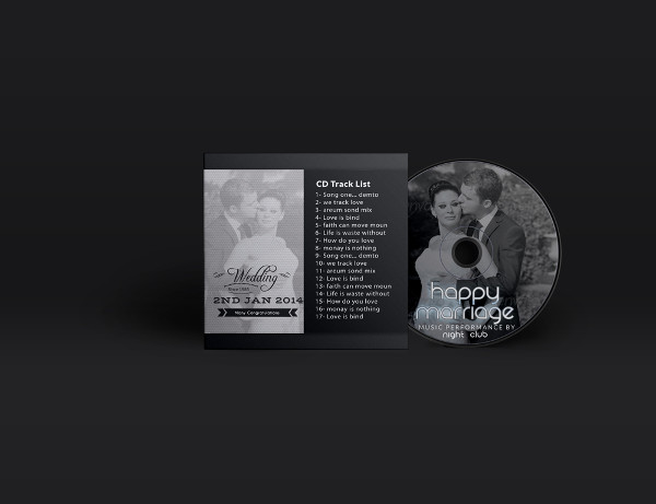 Clean Wedding CD Cover Template