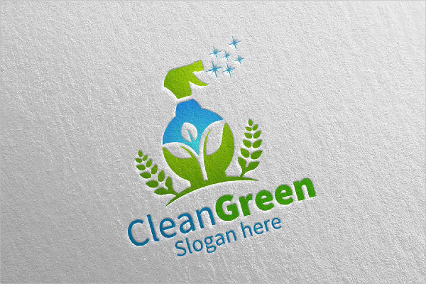 Cleaning Service Logo Eco-Friendly