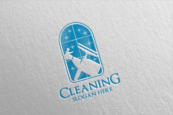 Colorful Cleaning Service Vector Logo Design