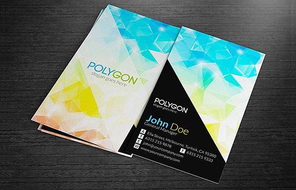 Colorful Polygonal Business Cards