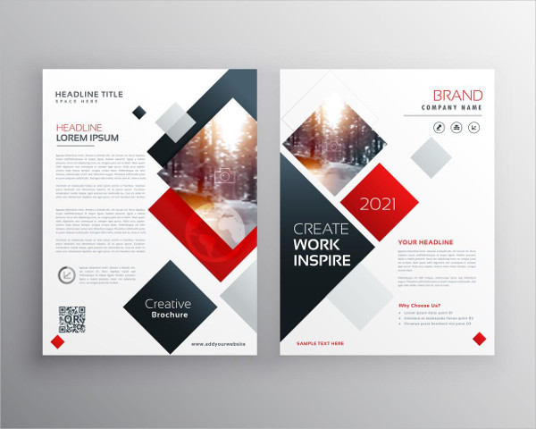 Creative Business Brochure Templates Design in A4 Free