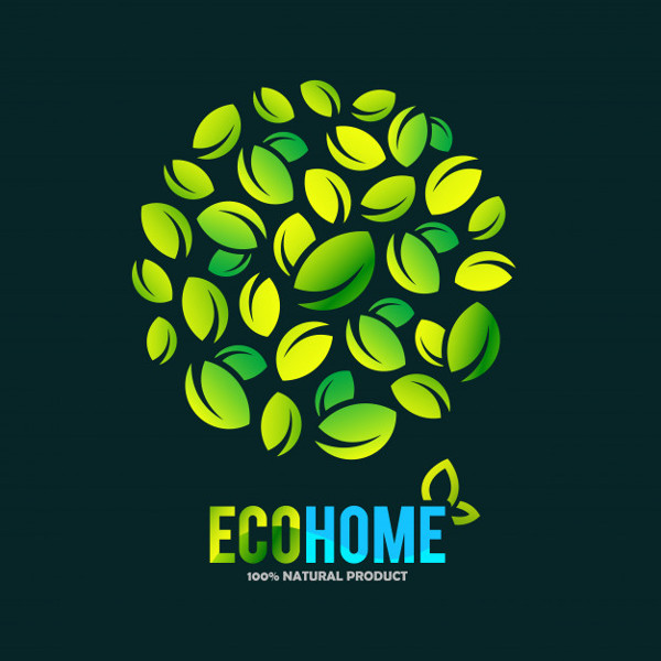 Creative Green House Concept Logo Free