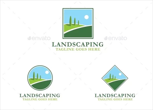 Cool Landscaping Logo Design