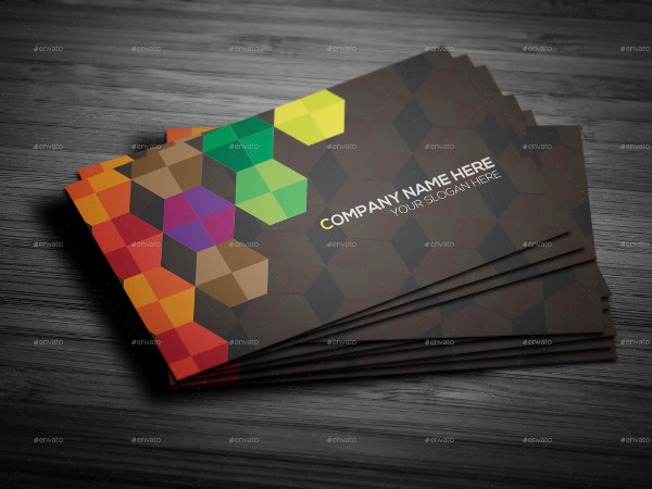 Creative Polygon Business Card Design