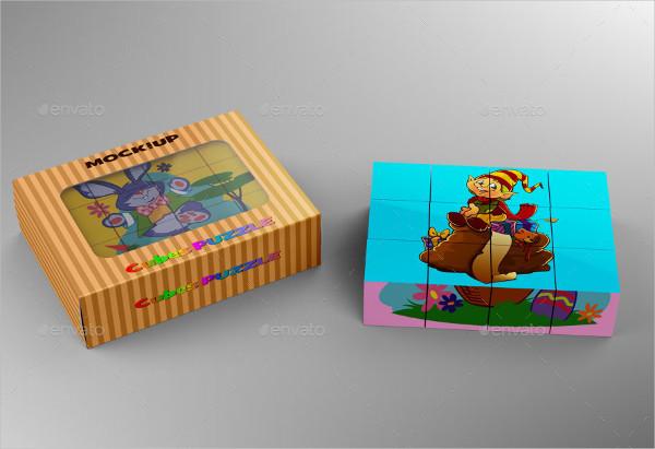 Cubes Puzzle Mockup Design