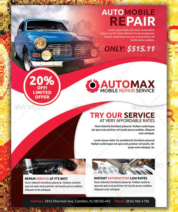 Custom Automobile Flyer